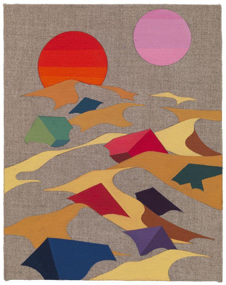 Arena, 2014. Eske Kath, Acrylic on unprimed linen