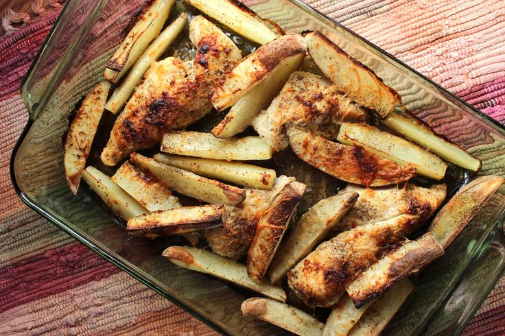 One Pan Chicken and Potato Bake