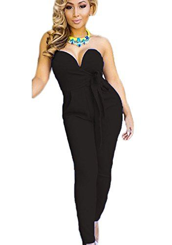 Aro Lora Women's Sexy Strapless Romper Casual Jumpsuits Tight Waist Clubwear X-Large Black  Special Offer: $19.99  388 Reviews Every woman deserves to look their best. The right clothes can give you the rush of confidence you need as you go about your day. The jumpsuit was...