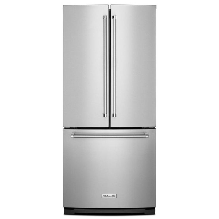 KitchenAid 30 in. W 19.7 cu. ft. French Door Refrigerator in Stainless Steel-KRFF300ESS - The Home Depot