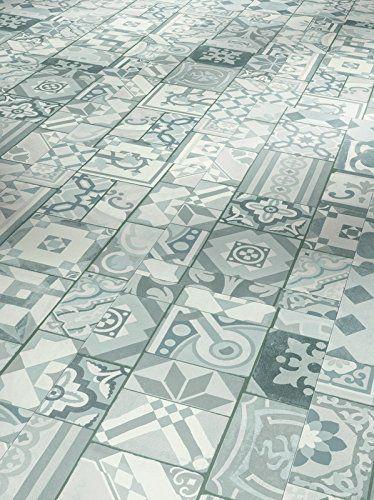 PARADOR Elastische Bodenbeläge Vinyl Trendtime 5.30 Ornamentic grey Mineralstruktur mit HDF-Trägerplatte 4-V-Micro-Fuge Steindekor, Betonfarben, Fliesenoptik 1602123 Paket a 1,783m² Klickvinylboden - Vinyl-Laminat