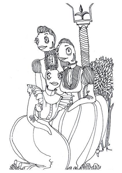 «Рыбное семейство. Кузины». Анастасия Дружинская.  #helloposter #poster #posters #art #modernart #printart #illustrators #illustration