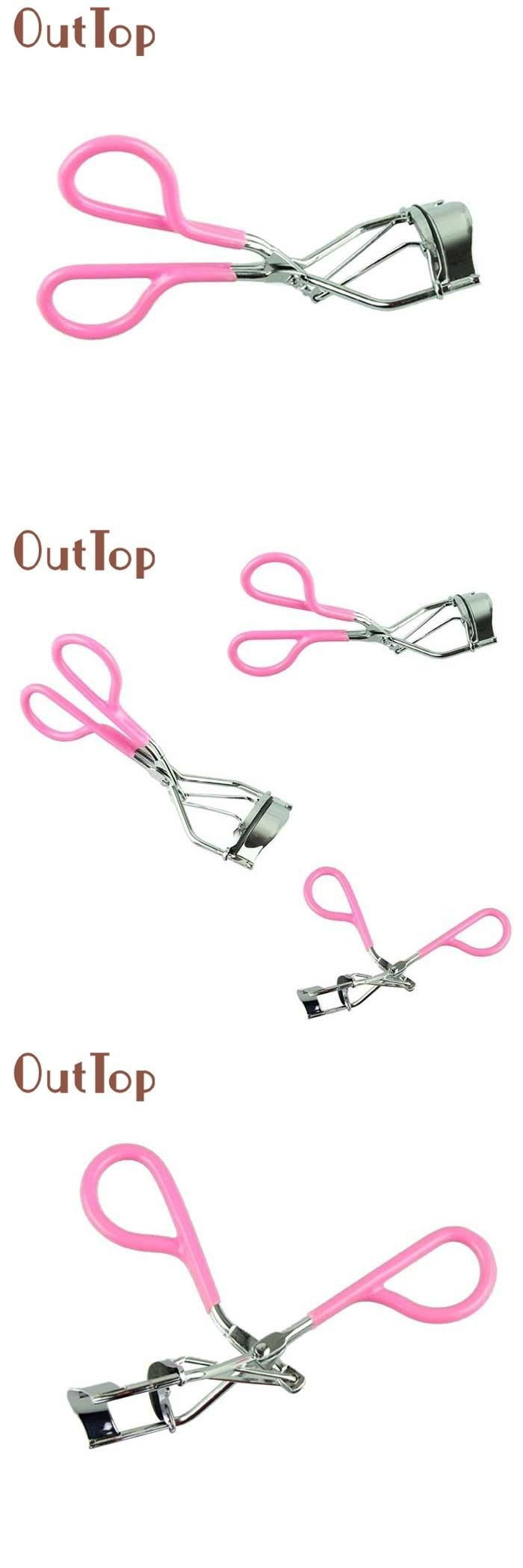 [Visit to Buy] OutTop New Pink Eyelash Curler Lash Curler Nature Curl Style Cute Curl Eyelash Curlers-Silver Beauty Tools best deal 1pcs #Advertisement