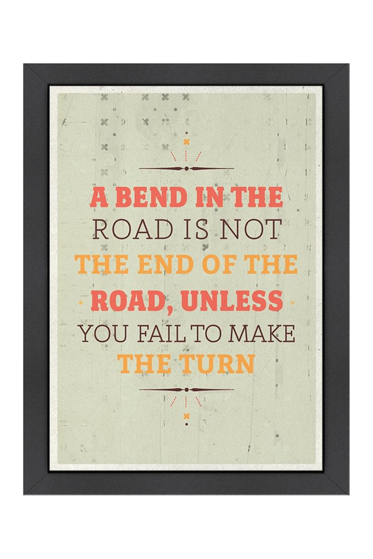 BEND IN THE ROAD....