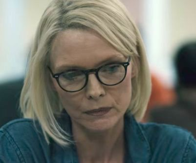 Michelle Pfeiffer as Ruth Madoff in the movie The Wizards Of Lies.