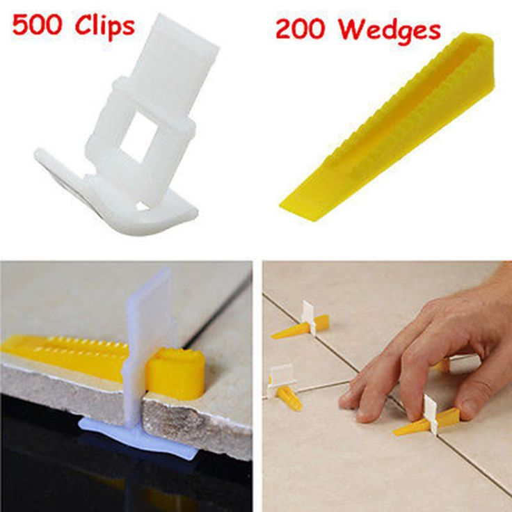 New 500 Clips With 200 Wedges Tile Leveler Spacers Lippage Tile Leveling System Tools