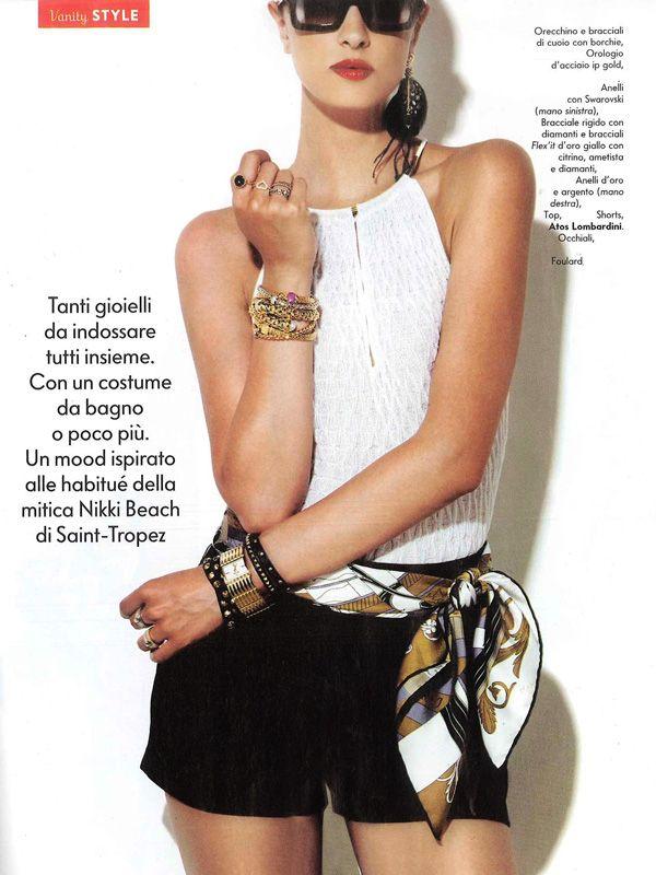VANITY FAIR Italia - August 2013. Black #shorts by #AtosLombardini.