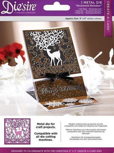 Diesire 5  x 5  Create a Card -  Enchanted Reindeer  Die