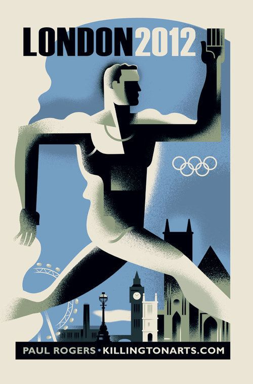 'London 2012' poster by Paul Rogers