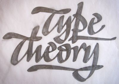 Lettering by Ken Barber  Type_theory_sketch_1