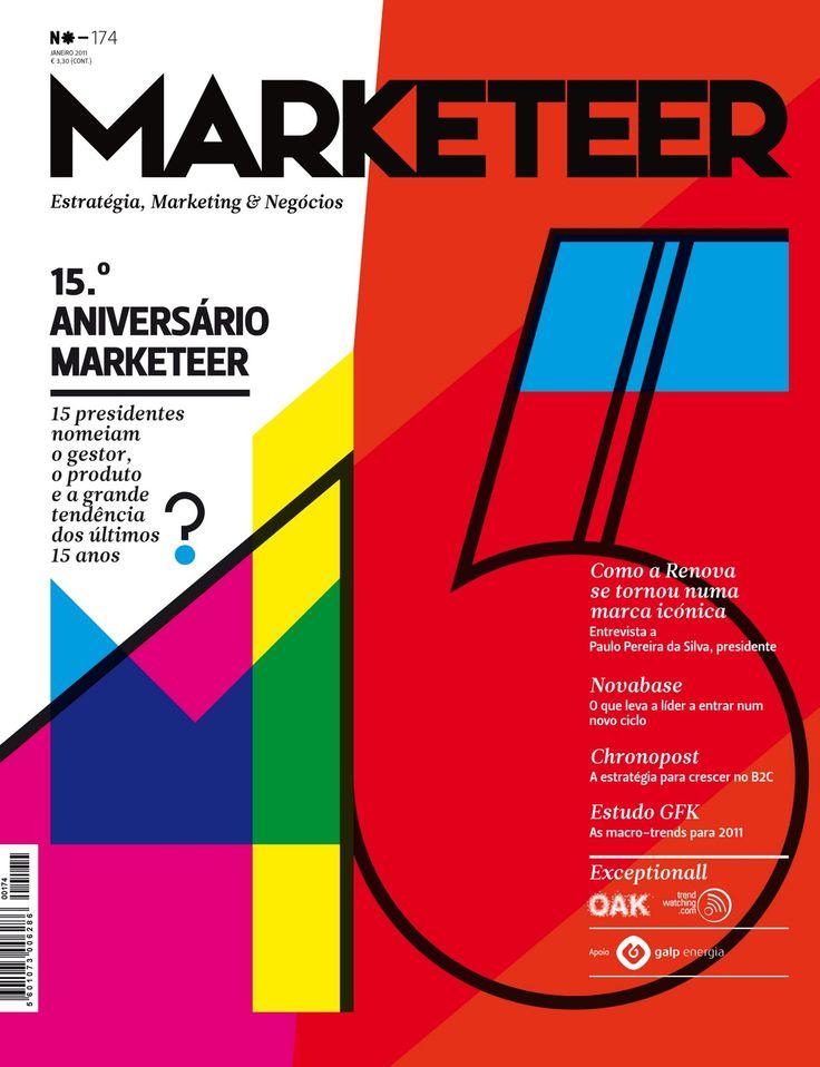 Capa de comemoração de 15 anos da revista Marketeer
