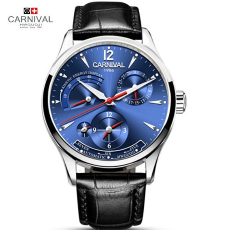 >> Click to Buy << Switzerland Carnival energy display automatic mechanical Watches Men Luxury Brand Watch military genuine leather strap montre #Affiliate