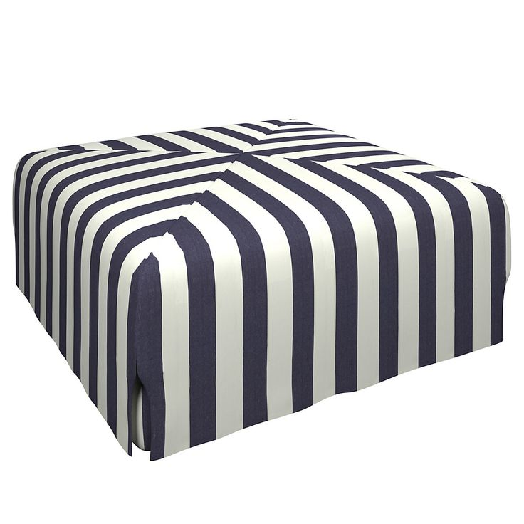 A beautifully tailored slipcover with discreet slits at