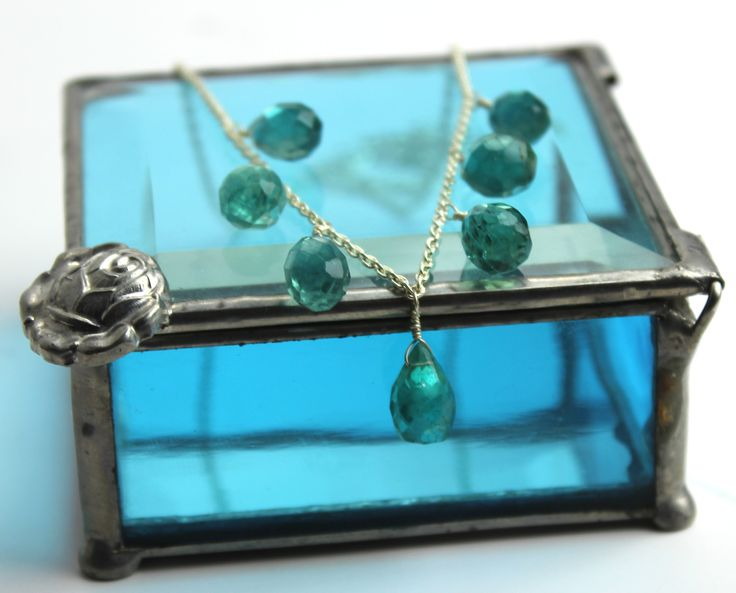 56ct cts Faceted Apatite 16-19in Necklace Sterling Silver www.kimberlyhahnstreasures.com