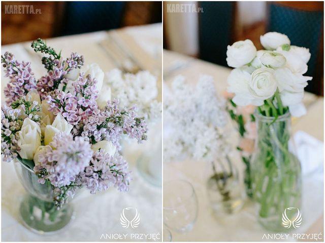 Lilac Wedding,Centerpieces,Spring flower,Lilac,Tulips | Wesele z bzem,Kompozycje kwiatowe,Wiosenne kwiaty,Bez,Tulipany,Anioły Przyjęć