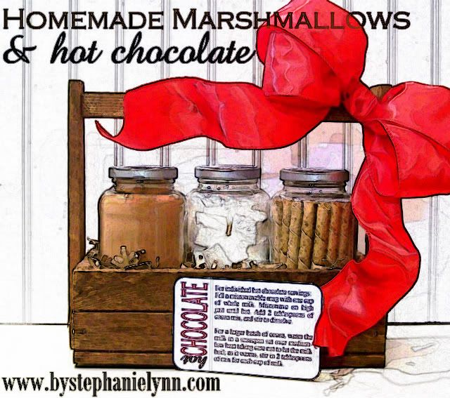 Love this idea. Especially the home made marshmallow! Maybe I'll do this for Christmas gifts this year instead of the usual fudge, and candies.