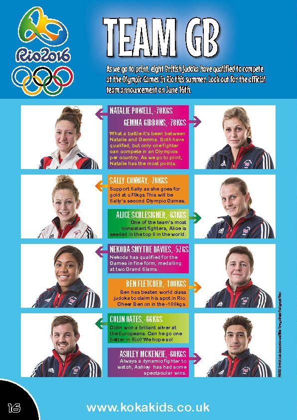 Rio 2016 Olympics Team GB Judo