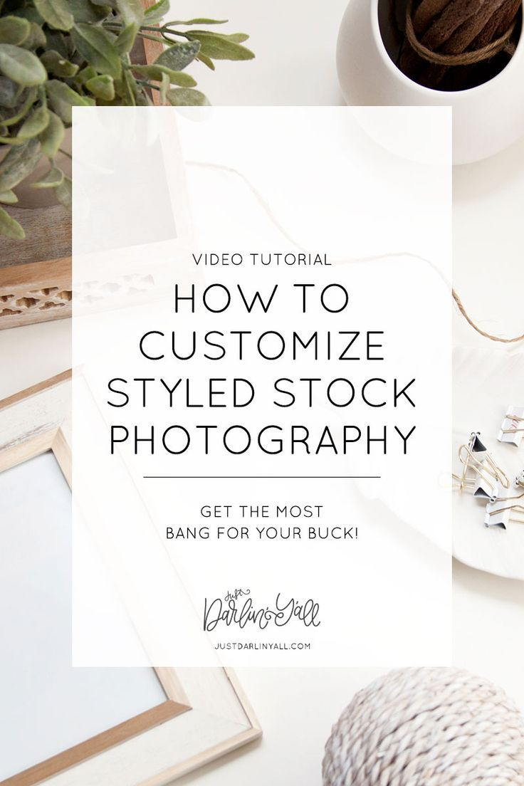 Stock photography can help your business with a professional aesthetic while making your to-do list much smaller. You know? To get the most bang for your buck, and to make your images stand out you can customize stock photos with the following super easy methods. Watch the video at justdarlinyall.com.