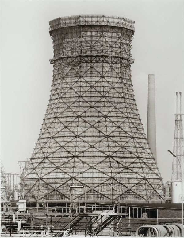 Bernd and Hilla Becher, Cooling towers, Germany, 1964-1993,  printed 2003  www.artexperiencenyc.com