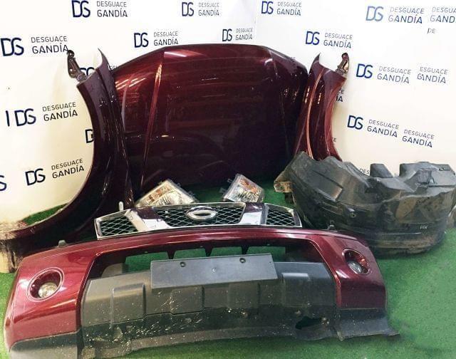 . Frontal Completo, Nissan Pathfinder, 2007, 2.5 DCI R51 Xtreme Plus. Motor: YD25. Faro derecho, faro izquierdo, parachoques delantero, capo, aleta derecha, aleta izquierda, paso rueda derecha, paso rueda izquierda, deposito botella limpia, panel frontal con traviesa, radiador agua, radiador aire acondicionado, radiador intercooler, electroventilador.