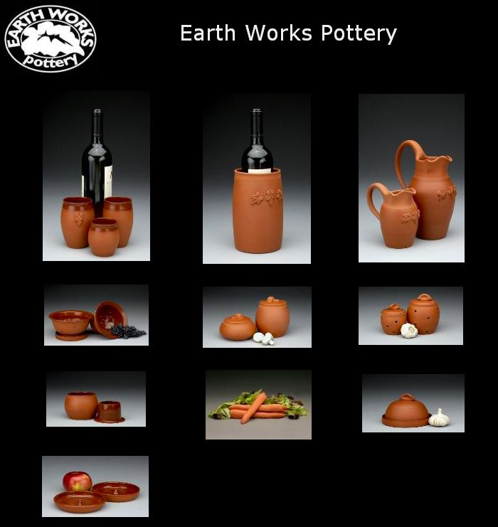 Earth Works clay will extend the freshness of your delicate greens, garlic and vegetables. Decanting or drinking from the wine cups will also make your wine taste dramatically smoother and more flavourful.