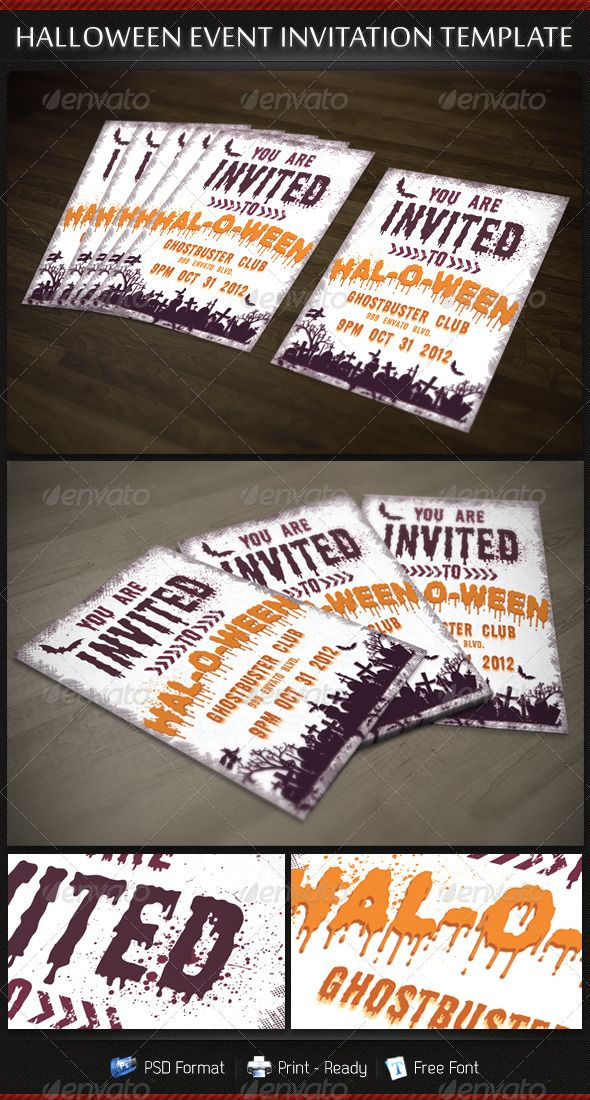 business event invitation templates%0A Halloween Party Invitation Template