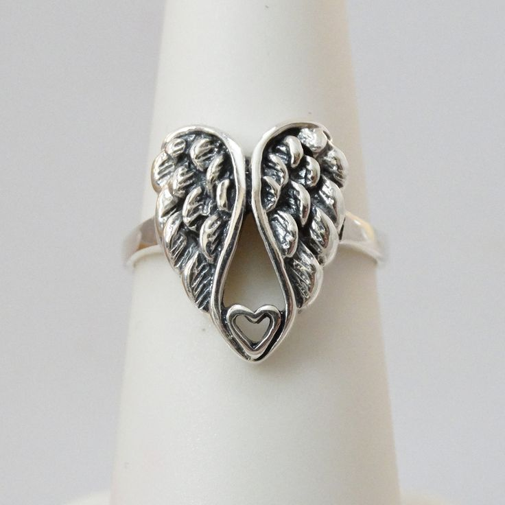 FashionJunkie4Life - Sterling Silver Angel Wing Heart Ring, $24.00 (http://www.fashionjunkie4life.com/sterling-silver-angel-wing-heart-ring/)