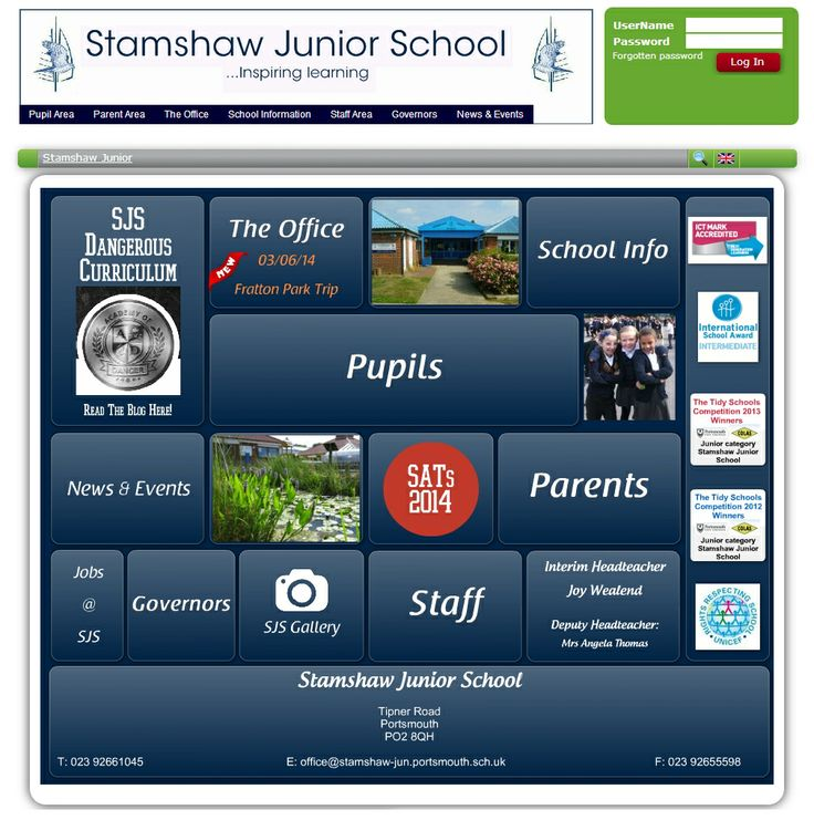 Stamshaw Junior School in Portsmouth have made great use of Bannersnack.com to create an interactive home page. We're also really impressed with their 'dangerous curriculum'.