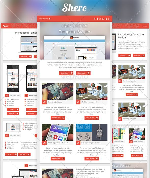 Shere - Modern Email PSD Template  #GraphicRiver         Shere is an email built for companies, enterprises, businesses