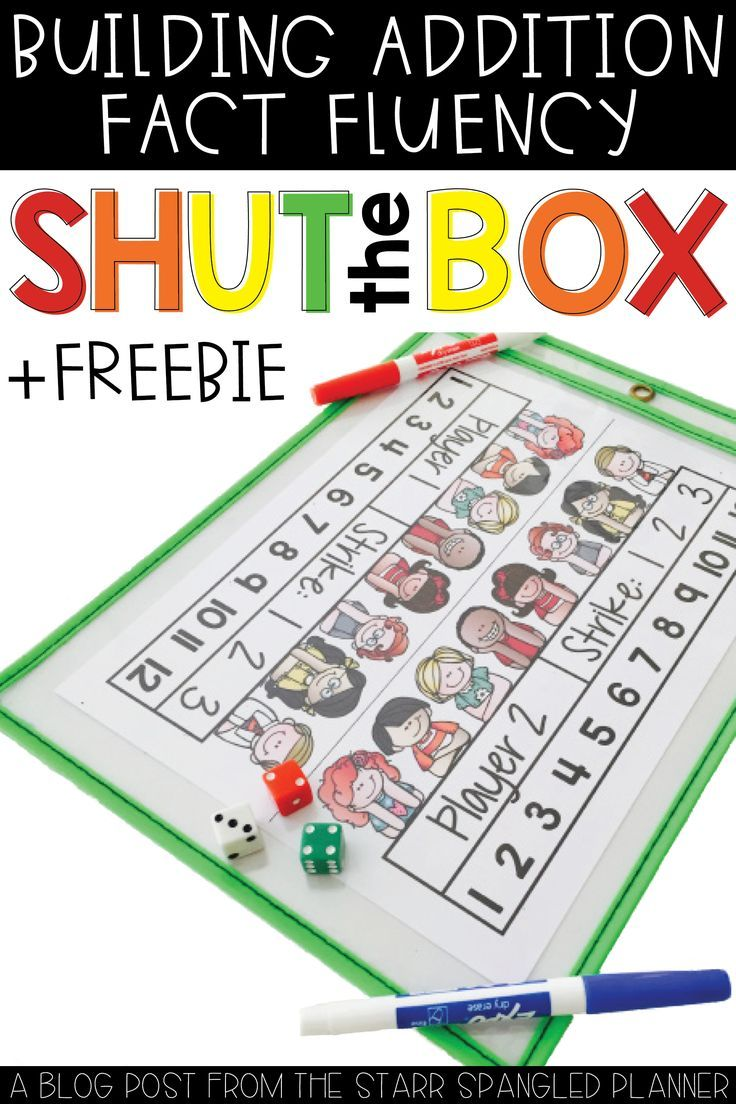 FREE math activity! This is our ALL TIME FAVORITE math game!  This activity is perfect for first and 2nd grade students to help practice addition, and build fluency with math facts.  There are so many ways to play, making it easily adaptable to centers, small group, or whole group.