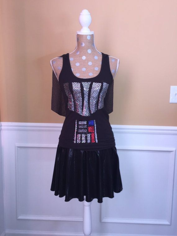 DARTH Black Inspired Running costume by Fit4aPrincessShop on Etsy