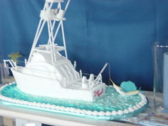 Best Boats  Ship Cakes Images On Pinterest Nautical Cake - Fishing boat birthday cake