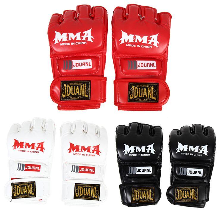 Envío libre MMA Muay Thai Gimnasio Guantes de Sparring Kick Boxing Saco de boxeo la Mitad Guante de Tren al por mayor H1E1