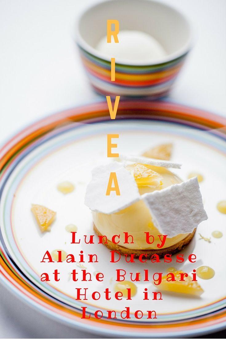 Read about Rivea: Lunch by Alain Ducasse at the Bulgari Hotel in London   Alain Ducasse…