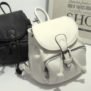 Women-039-s-Drawstring-Faux-Leather-Mini-Small-Backpack-Rucksack-Travel-Casual-Purse