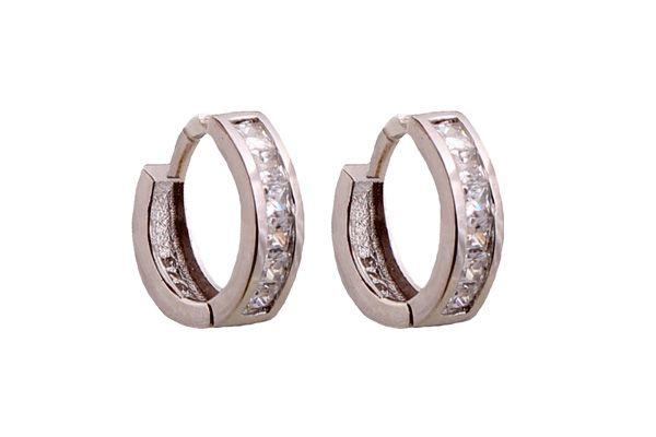 Χειροποίητα σκουλαρίκια, κρίκοι από επιπλατινωμένο ασήμι 925ο με λευκά ζιργκόν @ http://www.theodorajewellery.com/jewel/gr/2063/ Διάμετρος κρίκων: 10mm Πλάτος :3mm Τιμή 20€  Handmade jewelry, platinum plated silver hoops with white zircons @ http://www.theodorajewellery.com/jewel/en/2063/ Hoops diameter:10mm Hoops width: 3mm Price 20€