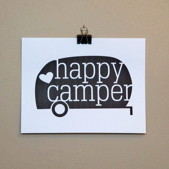 Instant Download Happy Camper 8x10 by sunnymorningdesigns on Etsy