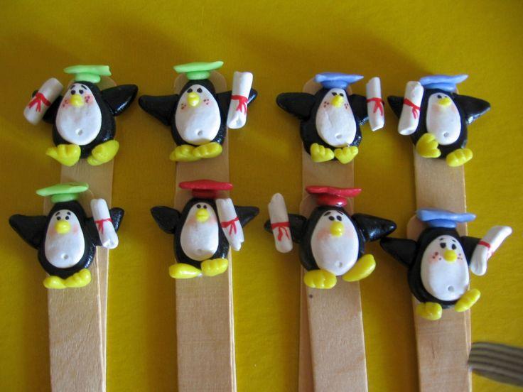 Laurea - segnalibri con pinguini