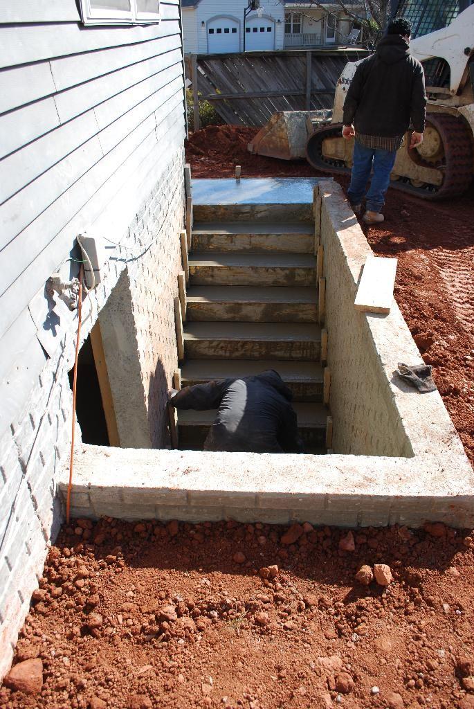 conversion of basement to walk out we have a legit egress window rh pinterest com  cost of digging a walkout basement