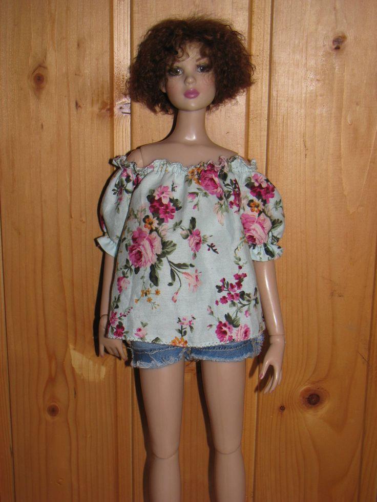 "Tonner 16 clothes Cotton blouse  for  women Tonner 16"" by NatZayShop on Etsy"