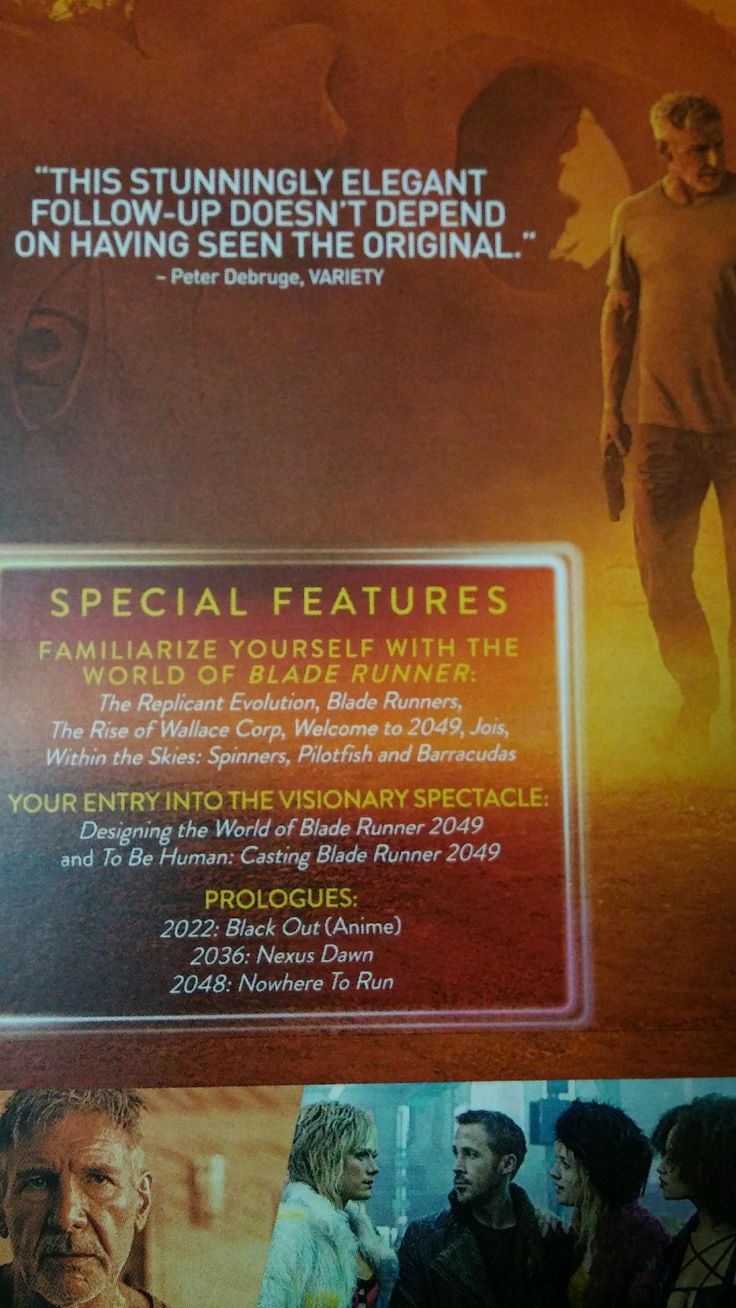 I feel like they could have used a stronger endorsement on the back of the Blade Runner 2049 Blu-Ray than this.