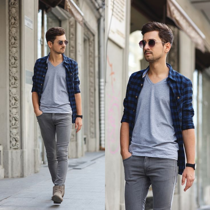 Blog post: http://themysteriousgirl.ro/2015/08/and-the-sun-comes-after/  Instagram: https://instagram.com/adriansunriseinc  navy black buffalo shirt asos zara bershka alcott grey t-shirt watch gaxs boots suede cool men outfit