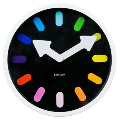 Quince Living - Karlsson Pictogram Rainbow Wall Clock | Homewares and Living Accessories | Quince Living