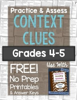 Practice & Assess Context Clues FREE Printables!