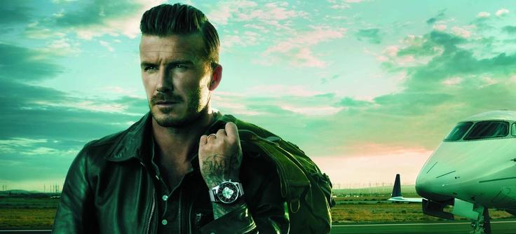 David Beckham vuela con Breitling