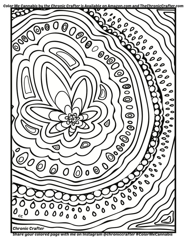 coloring page from color me cannabis the marijuana themed coloring book for stoners reefers mmj users and potheads color me cannabiss pinterest - Cannabis Coloring Book