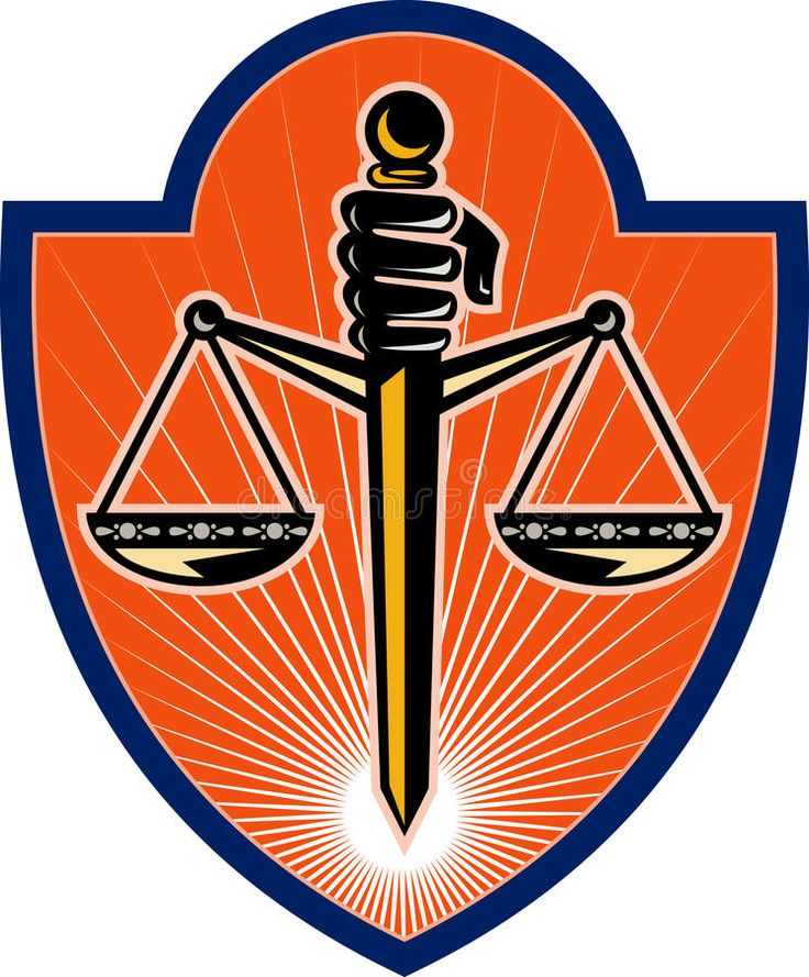 Hand holding scales of justice illustration of a hand