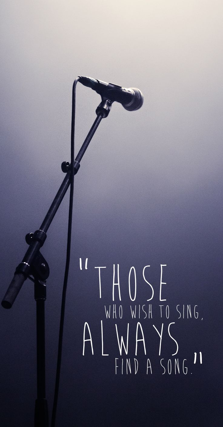 """Those who wish to sing, always find a song."" #music #quote"