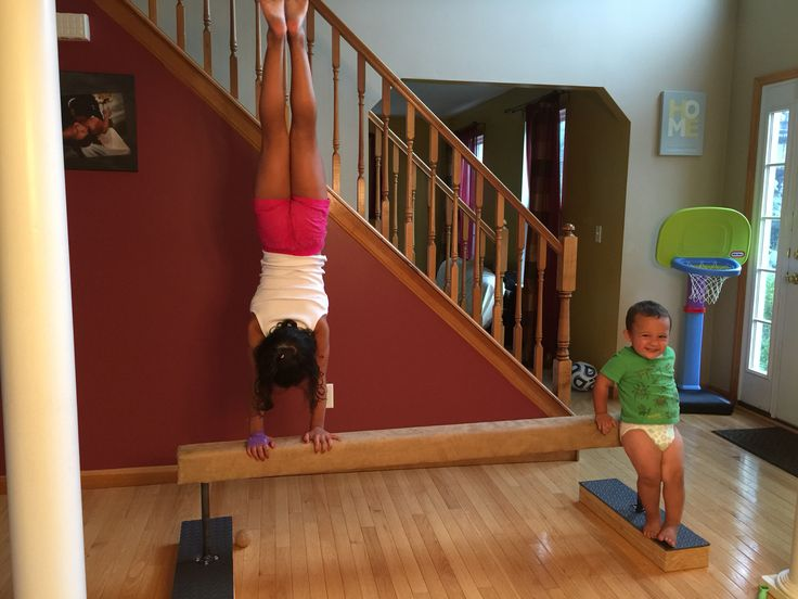 Diy Gymnastics Beam Made With 2 12 Quot Steel Pipes 4