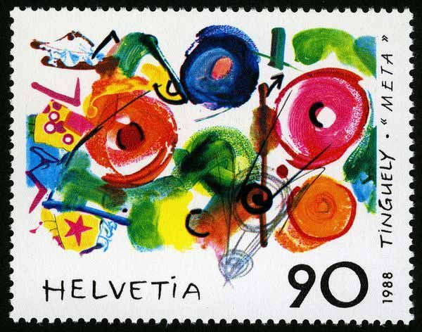 1988 Switzerland - Jean Tinguely Stamp